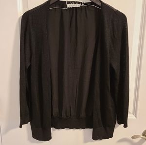 Black cardigan with silver specks in arms & front